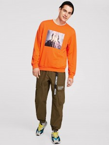 Grommet Lace Up Plunge Neck Tee Tops