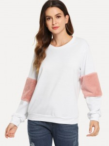 Rose Print Crop Hoodie Tee With Capri Leggings Two-piece Outfits