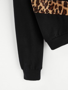 See Through Crop Hooded Top & Wide Leg Pants Two-piece Outfits