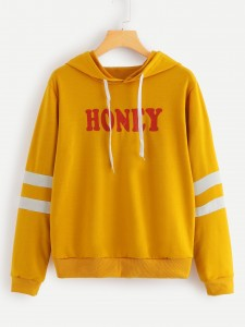 Slogan Print Cold Shoulder Tee Tops