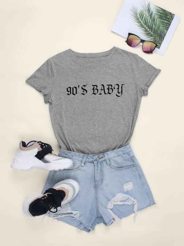 Toddler Girls Letter Print Top & Pants & Headband Toddler Girl