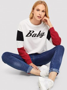 Letter Tape Figure Print Sheer Top With Pants Two-piece Outfits