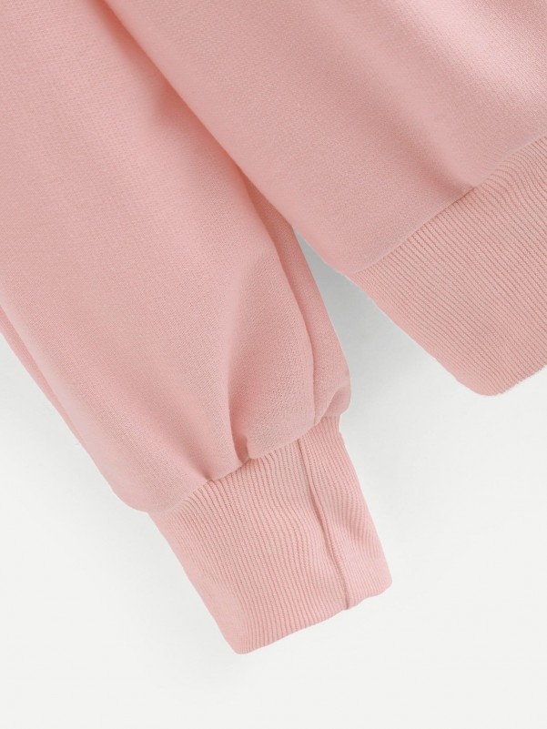 Flounce Sleeve Crop Peplum Top and Flare Leg Pants Set Two-piece Outfits
