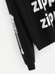 Flamingo Print Ringer Tee & Sweat Shorts Set Two-piece Outfits