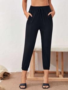 Men Christmas Santa Print Tee & Striped Pants PJ Set Men Two-Piece