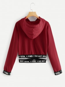 Drop Shoulder Ripped Dip Hem Top With Drawstring Pants Two-piece Outfits
