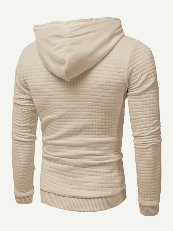 Grijs Casual Camouflage Tweedelige herenoutfits Koord Men Two-Piece