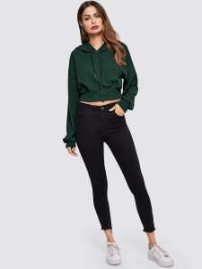 Side Striped Crop Top & Split Skirt Co-Ord Two-piece Outfits