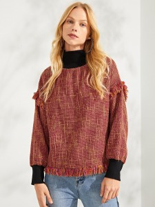Plus Solid Skinny Tee & Floral Pants Set Plus Size Co-Ords