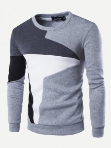 Wit Casual Tekst T-shirts Contracst kraag Tops