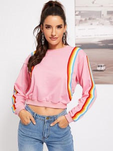 Girl and Letter Print Tee Tops