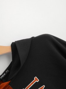 Contrast Tag Cut Out Detail Tee Tops