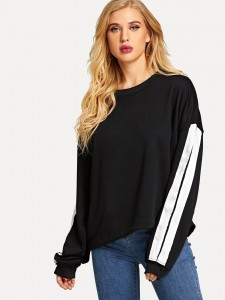 Plus V Neck Crop Ribbed Tee Plus Size Tops
