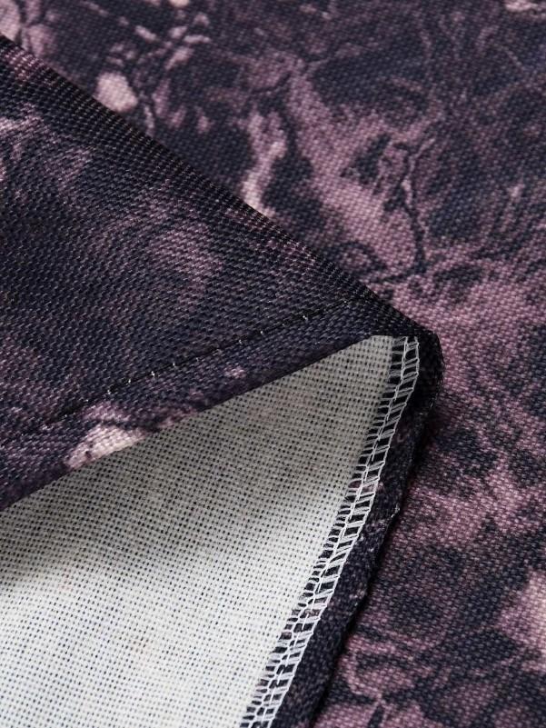 Solide t-shirt met twist Tops