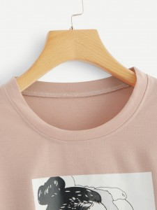 Men 3D Deer Print Tee Men Tops