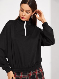 Bordeaux Casual Vlak T-shirts Tops
