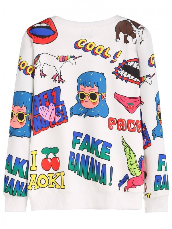 Girls French Fries Star Print Tee Girls Clothing