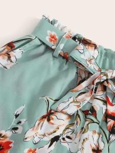 Toddler Girls Patched Detail Frill Trim Sweatshirt Toddler Girl