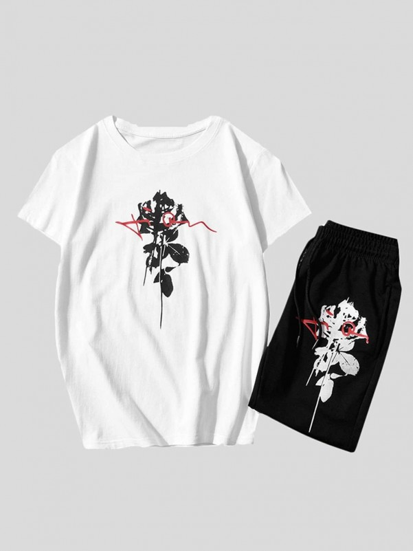 Men Crew Neck Color-block Raglan Sleeve Pullover Men Tops