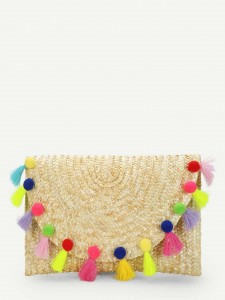 Girls Bow Cuff Tropical Print Top & Belted Pants Set Girls Clothing