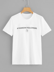Letters Print Raglan Sleeve Top With Pants Two-piece Outfits