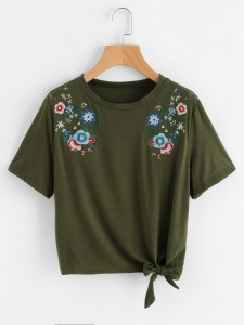 Girls Striped Wide Leg Pants With Printed Top Girls