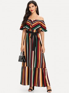 Girls Tiered Layer Top With Floral Print Bikini Girls Clothing