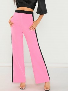 Houndstooth Print Double Breasted Coat Outerwear