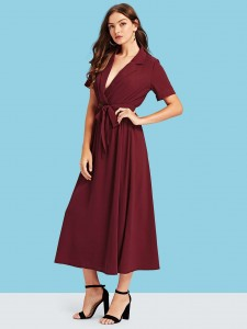 Buckle Decor Lace-up Front Chunky Boots Women Shoes