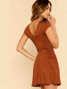 Geo Print Form Fitted Top T-Shirts