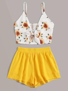 Floral Overlay Print Sheet Set Bedding Sets
