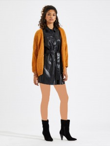 Clear Chunky Heeled Double Strap Mules Women Shoes