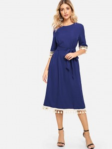 Pointed Toe Contrast Flat Mules Women Shoes