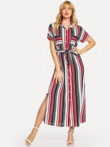 Two Part Iridescent Chunky Heels Women Shoes