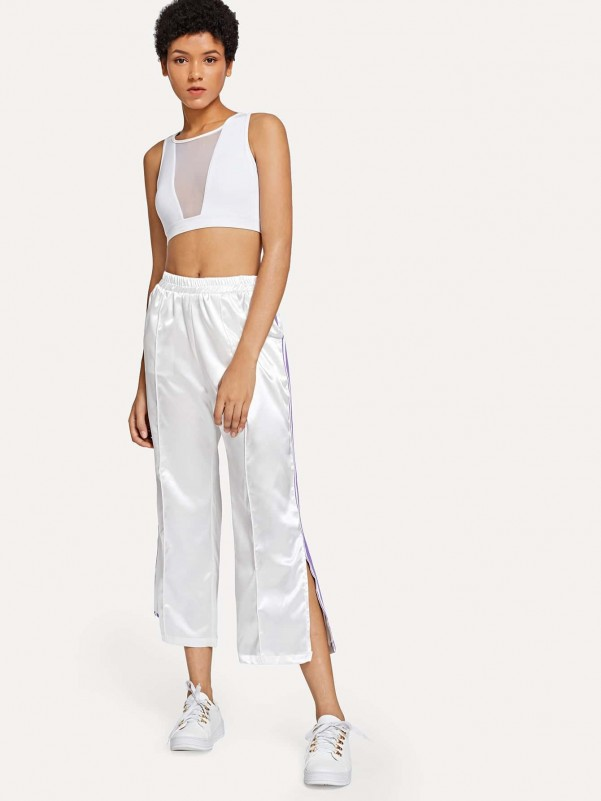 Lace-up Front Knit Trainers Women Shoes